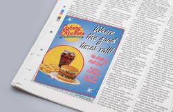 Johnny Rockets Newspaper Ad
