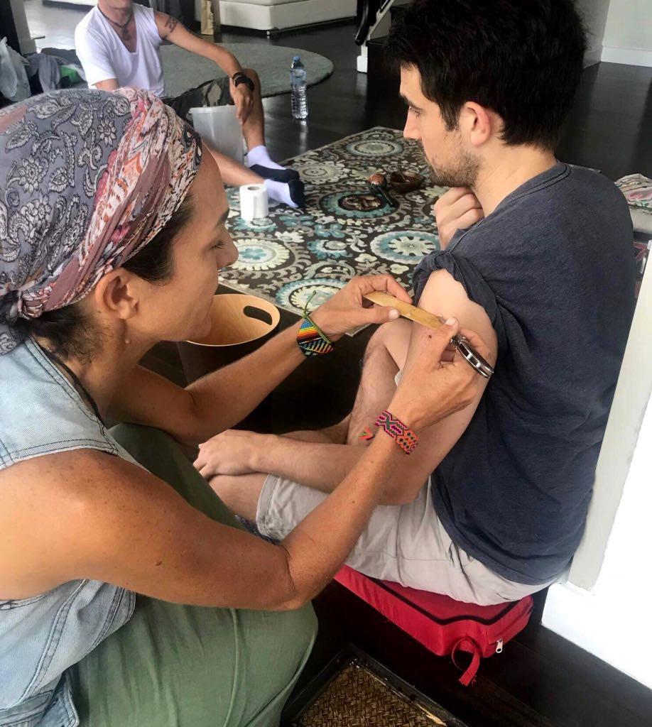 Serving sacred Kambo medicine in Thailand