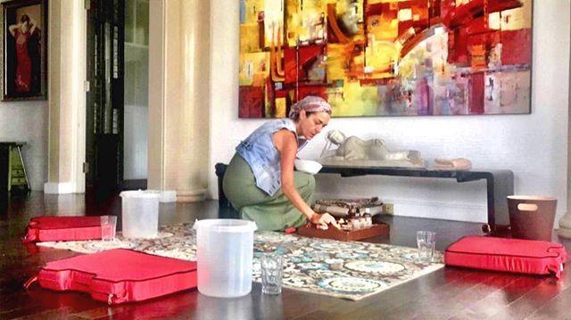 Preparing sacred Kambo medicine space in Bangkok