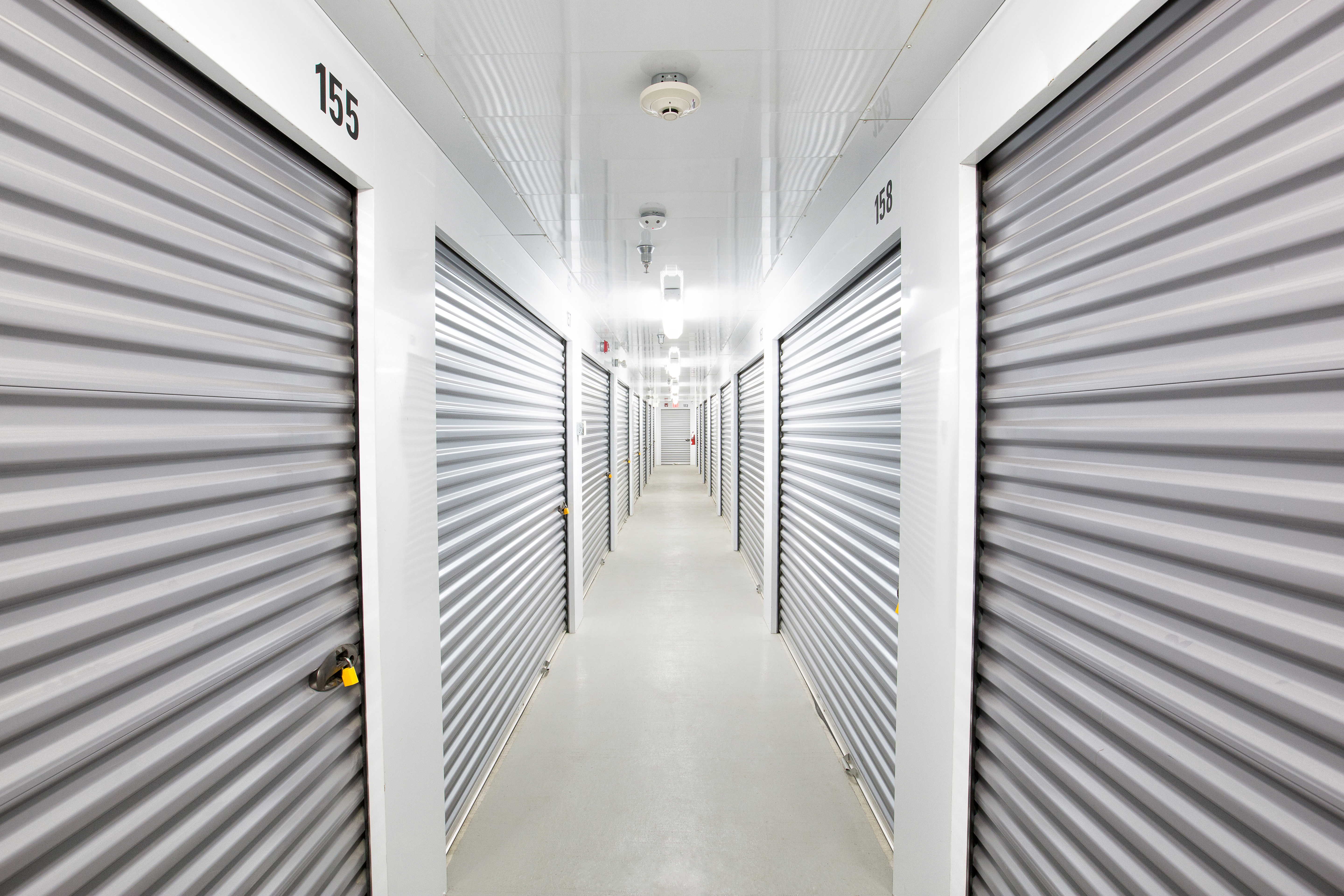 Interior of storage facility hallway