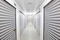 Interior of storage facility hallway