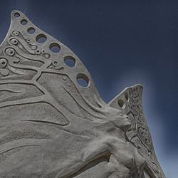 Butterfly Sand Sculpture Art