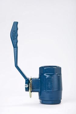 Blue coloured ball valve