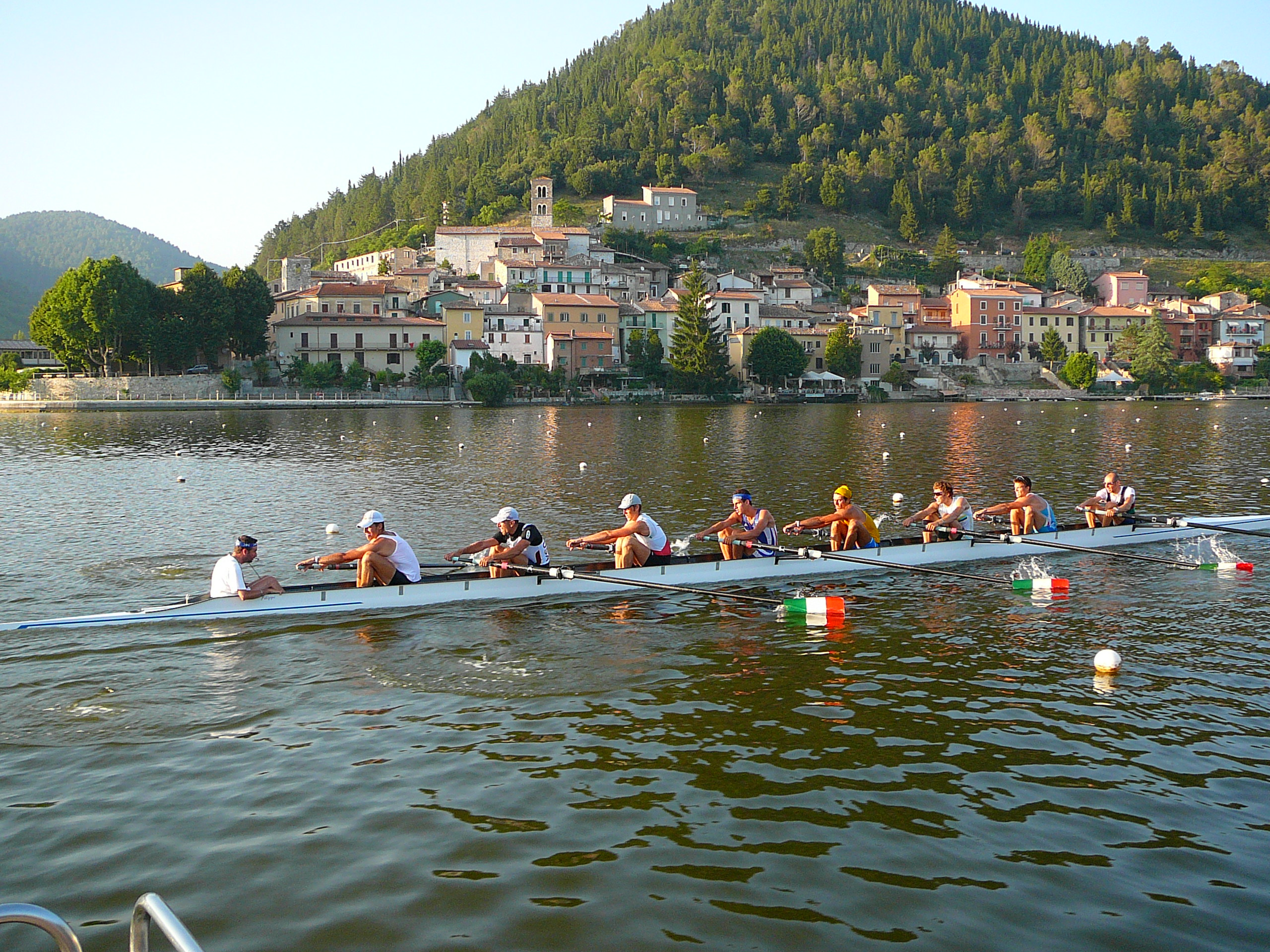 Rowing on Lake Piediluco
