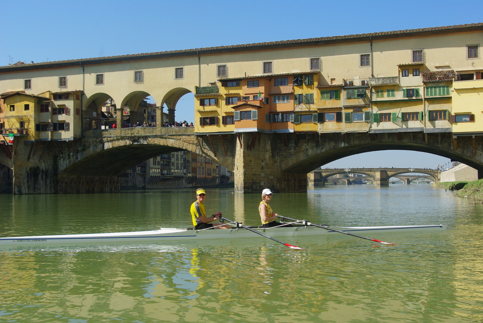 Florence Row Under the Ponte Vecchio