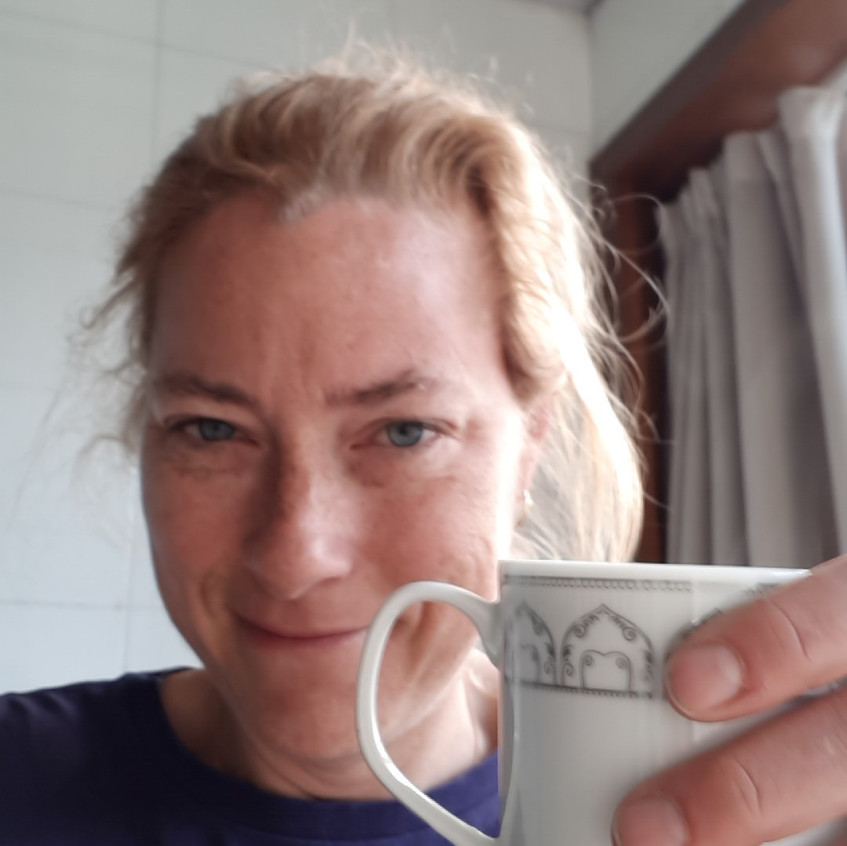 Here I am, feeling very proud of myself for remembering to bring the travel espresso pot. The closest coffee to this rowing center was probably a 30-minute drive away!