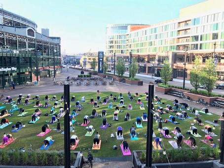 Summer Yoga at Wrigley and Gallagher Way