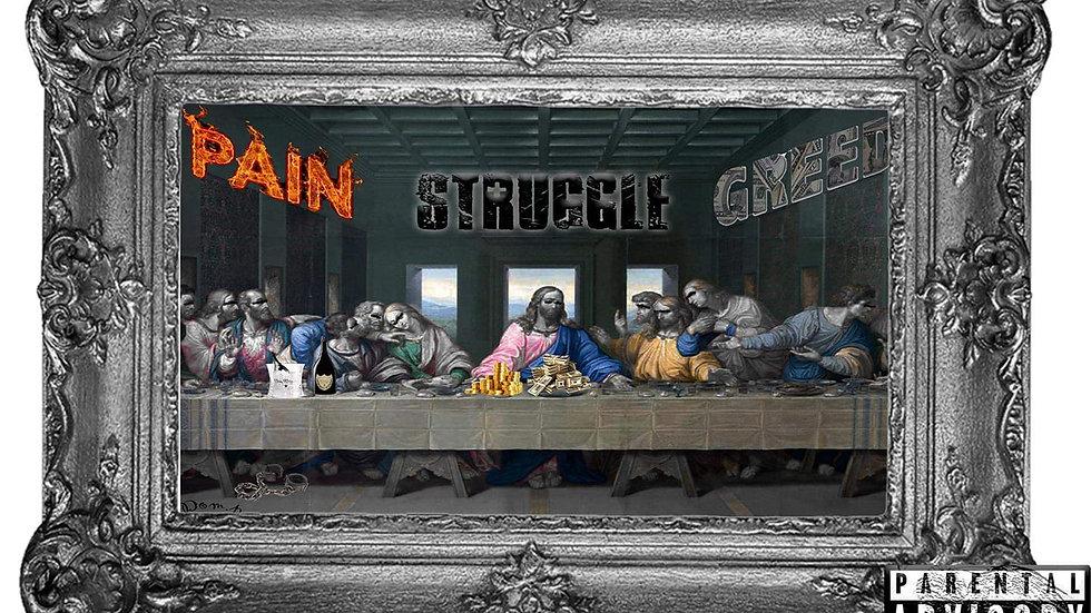 Dom.P-Pain Struggle Greed (hardcopy)
