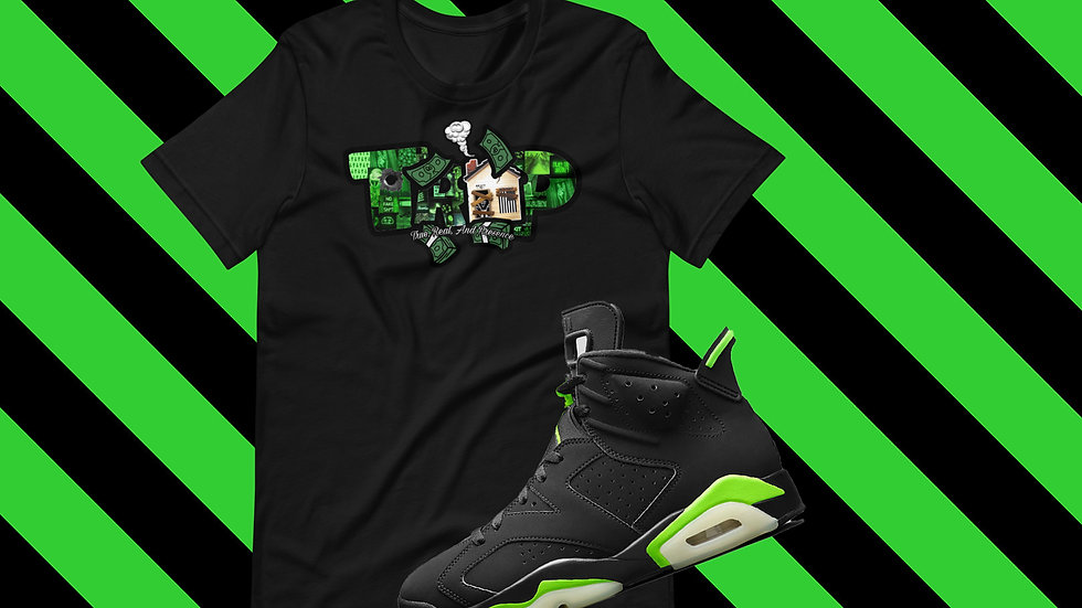 Lime Green and Black #6 Short-Sleeve Unisex T-Shirt