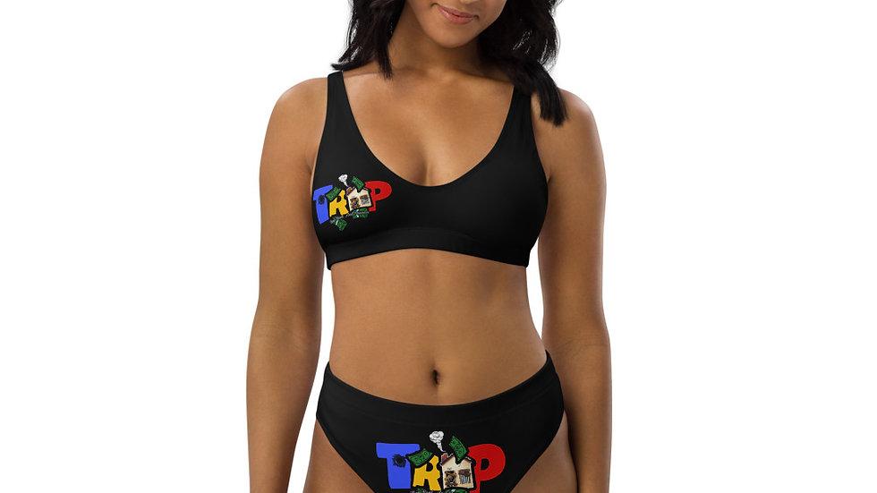 Black TRAP High-Waisted Bikini
