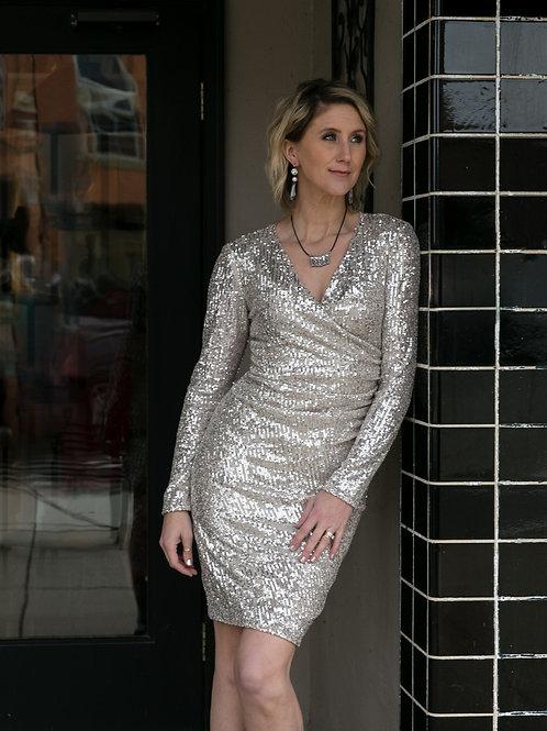 Nude/Silver Dress
