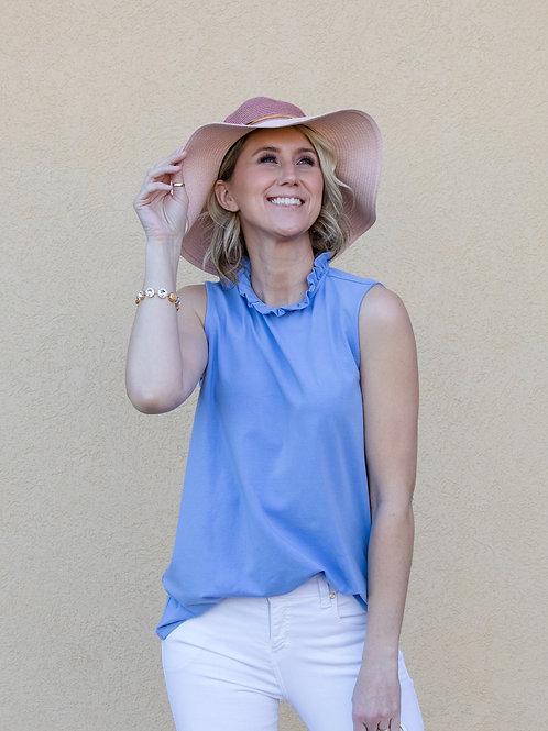 Blush Color Block Sun Hat