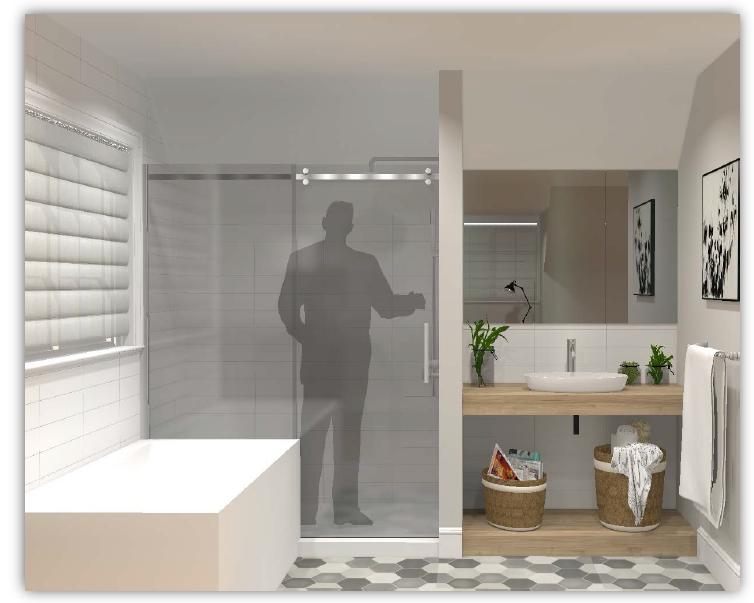 La salle de bain de la suite secondaire