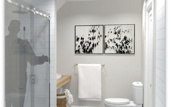 Salle de bain de la suite secondaire