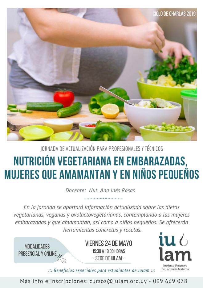 Nutrición vegetariana en embarazadas, madres que amamantan  y niños pequeños