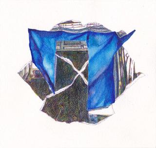 Blue Sheet (Drawing) #1