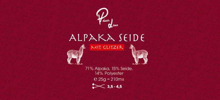 Alpaka Seide mit Glitzer