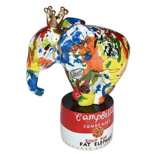 FACETED ELEPHANT DECO PAUGE