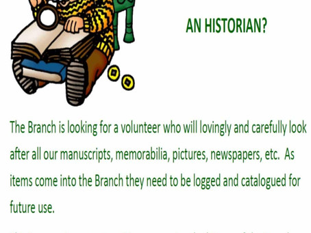 Historian Position Available