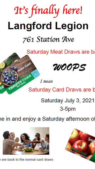 Saturday Meat Draws are back!