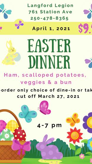 April 1st Easter Dinner!