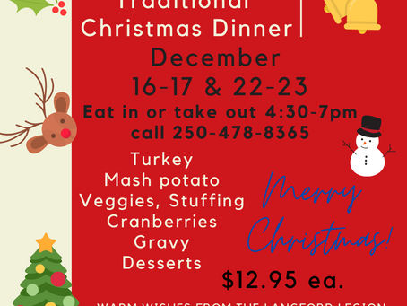 Join us for dinner this Holiday Season