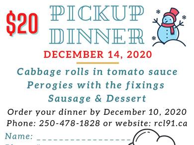 December Drive-Thru Dinner