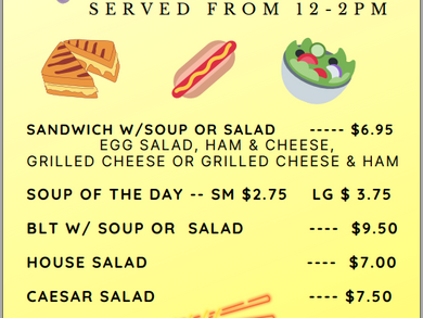 Come in for lunch!