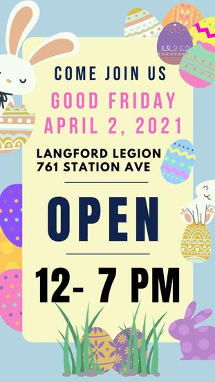 Good Friday at the Legion!
