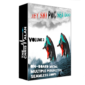 Jet Ski PWC SeaDoo Volume 2 Sound Effects Library by The Chris Alan - Engine Reving, Splashing, PullUp Sound FX