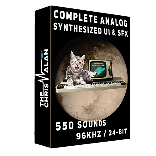 Complete Analog Synthesized UI & SFX