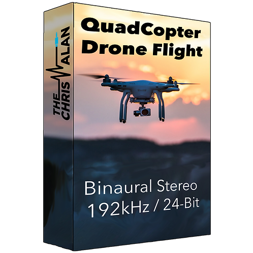 QuadCopter Drone Flight In Binaural
