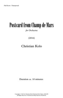 Postcard From Champ de Mars (Works Cover