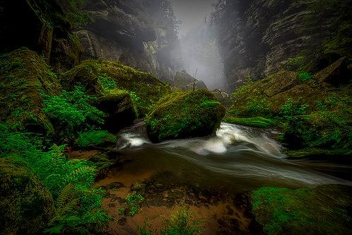 Mystická řeka 60x40cm