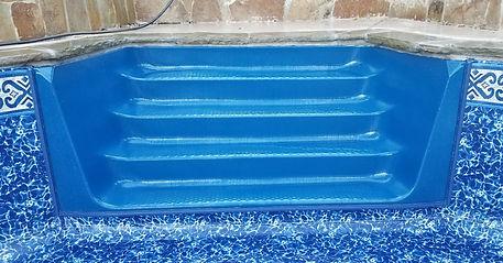 vinyl pool step overlay north Texas