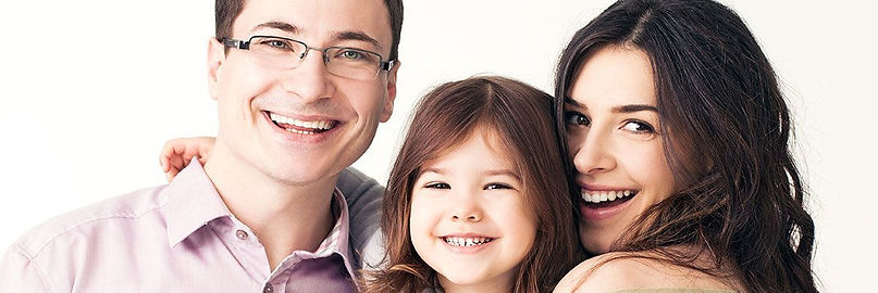 Parents and Child Smiling