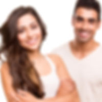 Attractive Young Couple Smiling