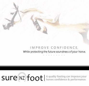 SUREFOOT NZ: ARENA FOOTING FOR STABILITY TO MINIMISE CONCUSSION TO LOWER LIMBS.