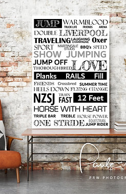 WORDS TO LIVE BY - SHOW JUMPING