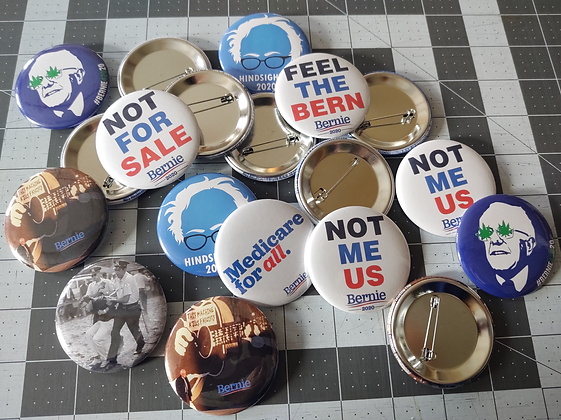 """Bernie Sanders 2.25"""" Pins, Pinback Buttons, Badges. Personalize with your endors"""