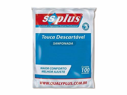 Touca Descartável Sanfonada - 100un - SSPlus