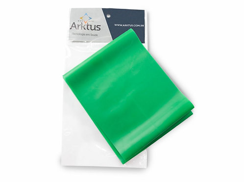 Exercitador Elástico Top Band - Médio Verde - 1,50 m - Arktus