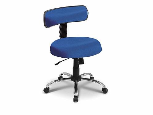 Cadeira Mocho com Encosto - 5010 - Base Cromada - Arktus