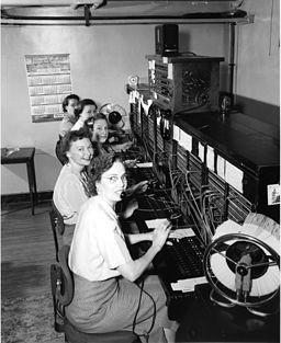 image of switchboard operators