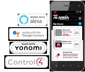 Aladdin Connect Smart Device Garage Door Opener and App