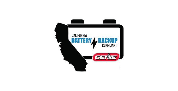 California Compliant garage door opener.