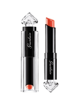 Guerlain La Petite Robe Noire Deliciously Shiny Lip Colour in 020 Poppy Cap | BeautyFresh