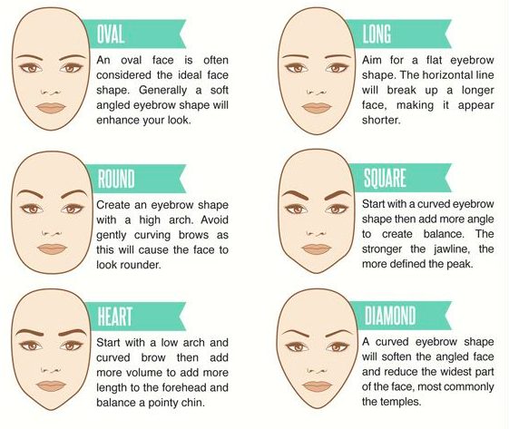 Brow shape according to face shape | BeautyFresh