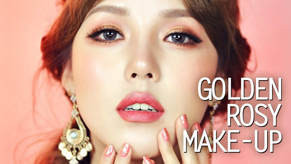 Golden Rosy Makeup | BeautyFresh