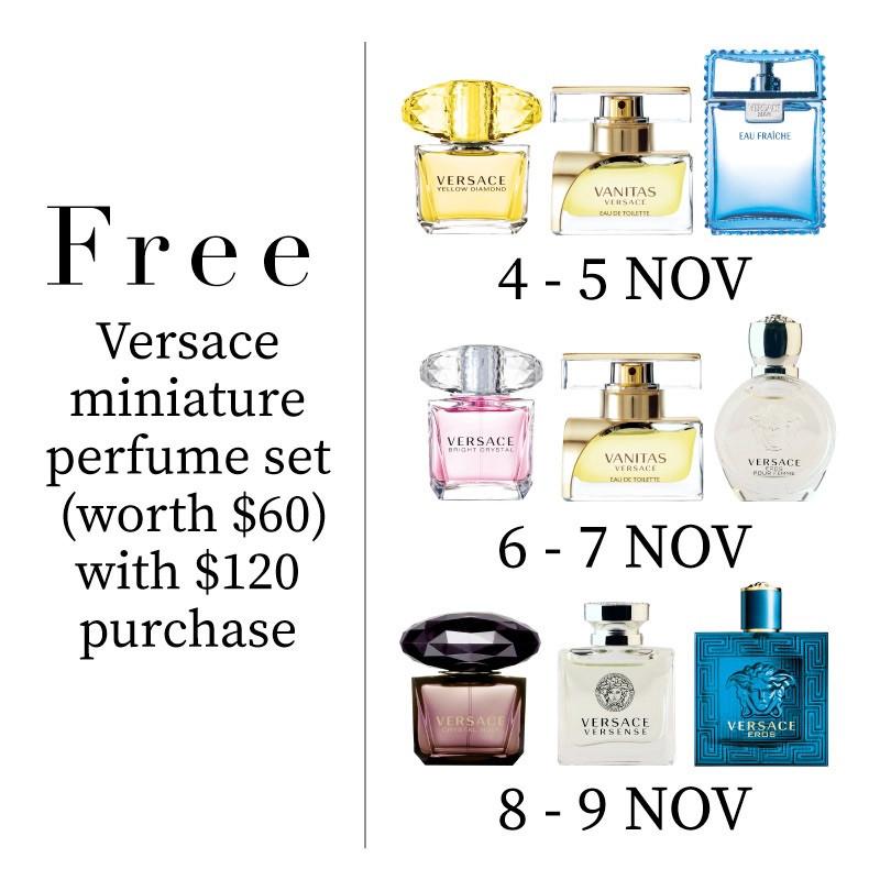 Free Versace perfume set